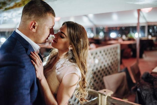 Młoda para w dzień ślubu