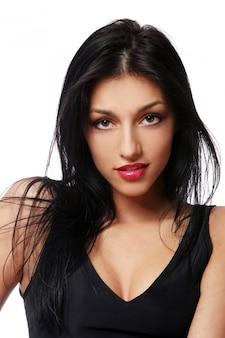 Młoda piękna brunet seksowna kobieta