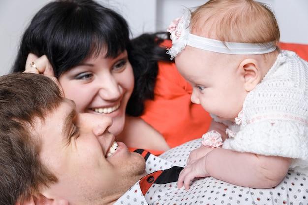 Młoda piękna rodzina