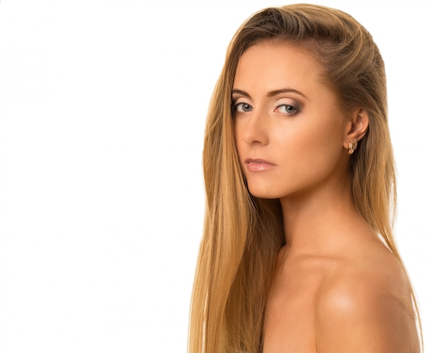 Młoda szczęśliwa caucasian kobieta naga