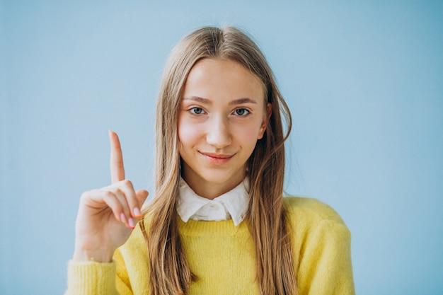 Młodej dziewczyny seansu twarzy odosobneni wyrażenia