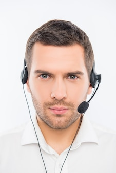 Młody agent call center