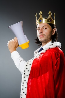 Młody biznesmen króla
