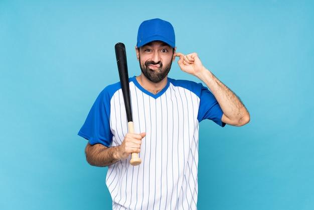 Młody człowiek w baseball