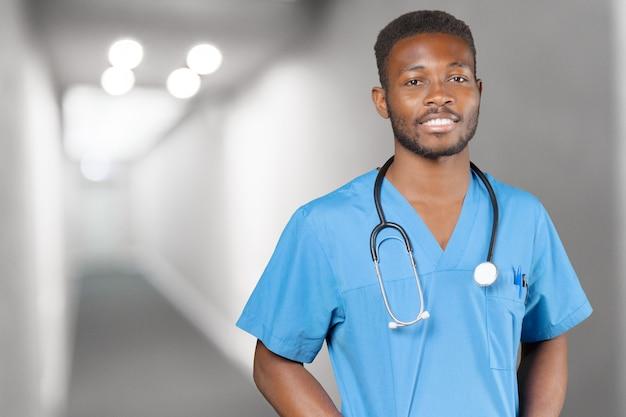 Młody doktor afroamerykanów