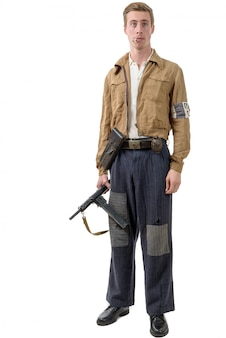 Młody francuski żołnierz ruchu oporu