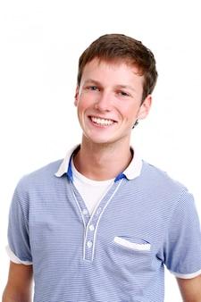 Młody i atrakcyjny nastolatek mężczyzna