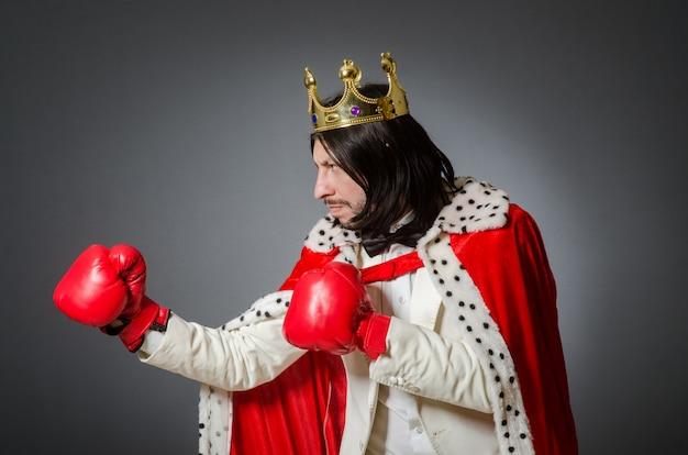 Młody król biznesmen w królewskiej koncepcji