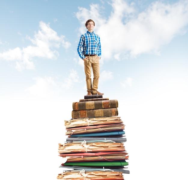 Młody student człowiek