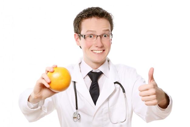 Młody student medycyny