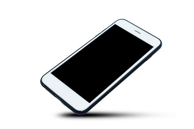 Mobilny inteligentny telefon na białym tle technologii