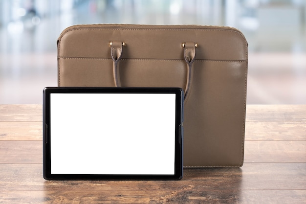 Mock up digital tablet pc z pustym ekranem