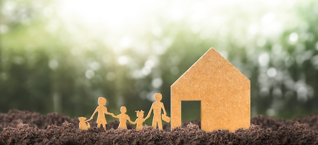 Model domu tam przestrzeń. koncepcja domu eco i nieruchomości