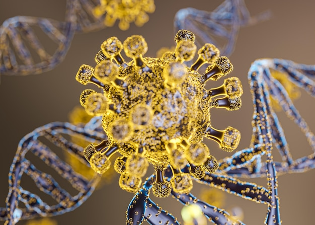 Modelowanie 3d wirusa covid