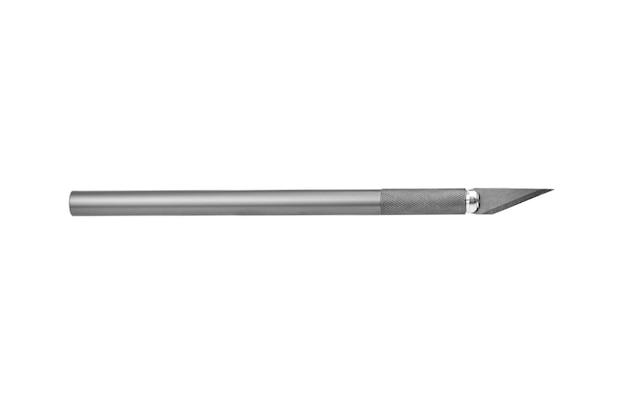 Modelowanie noża rzemieślniczego skalpela na białym tle