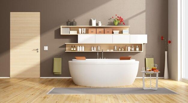 Moder łazienka z okrągłą wanną