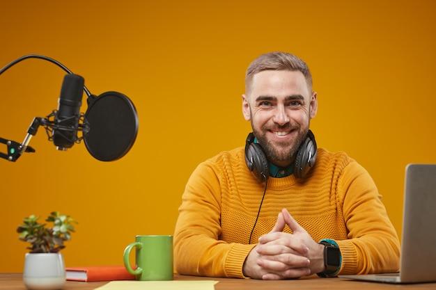 Modern video blogger portrait