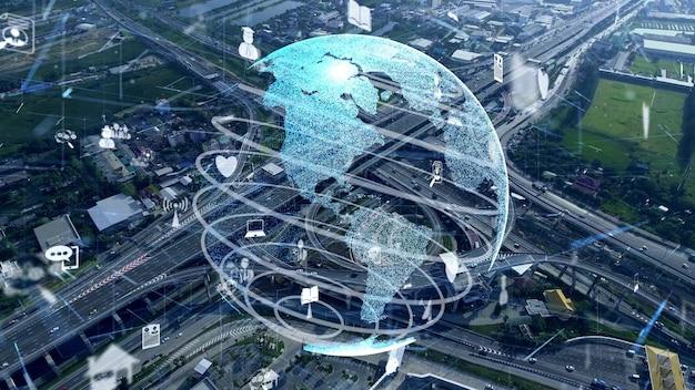Modernizacja globalnego połączenia i sieci internetowej w inteligentnym mieście