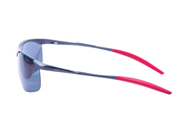 Modne okulary przeciwsłoneczne dwukolorowe ramki na białym tle