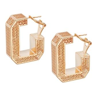Modne złote kolczyki. biżuteria damska. najlepszy prezent świąteczny dla kobiety.