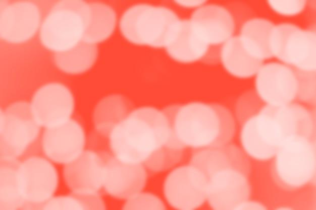 Modny bokeh rozmazany w kolorze koralowym