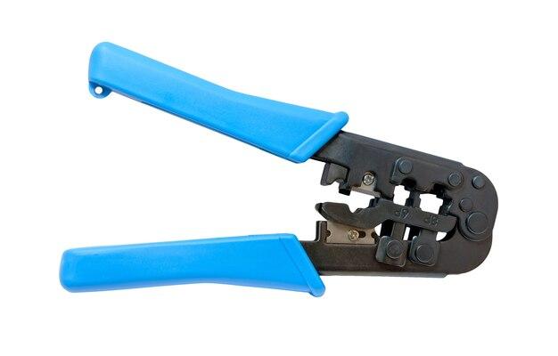 Modułowe narzędzie do zaciskania na białym tle