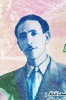 Mohammed boudiaf portret z algierskich pieniędzy