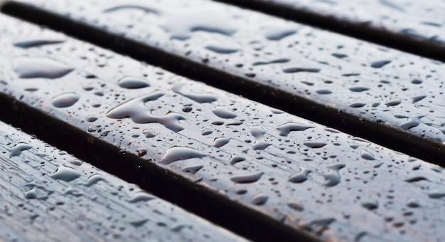 Mokre podłogi drewniane
