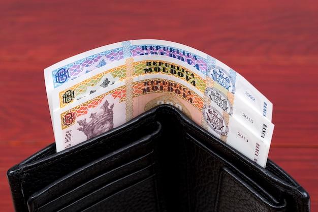 Mołdawski lej pieniędzy w czarnym portfelu
