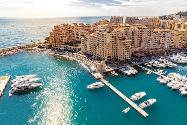 Monaco fontvieille pejzaż miejski
