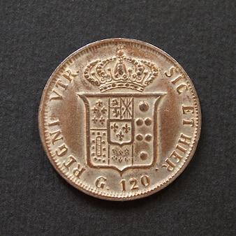 Moneta włoska w stylu vintage