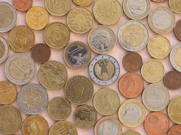 Monety euro, tło unii europejskiej