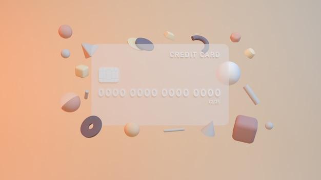 Monety pieniężne z karty debetowej lub kredytowej izometryczne