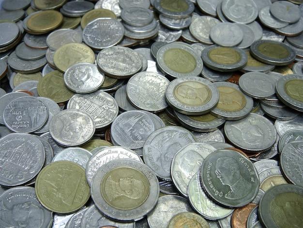 Monety tajski kąpieli, wybierz ostrość z płytkiej głębi ostrości: makro.