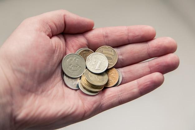Monety w ręku