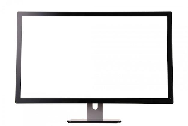 Monitor na białym tle