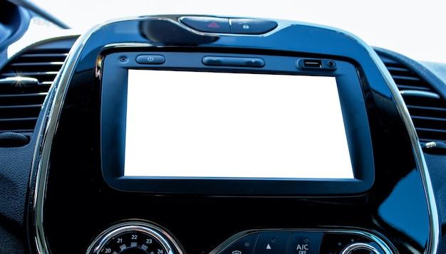 Monitor w samochodzie z tłem makiety monitor w samochodzie z tłem makiety