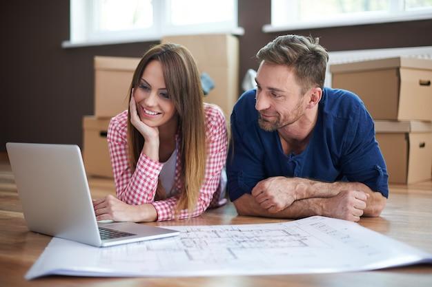 Monitorowanie postępów w zmianie planu domu