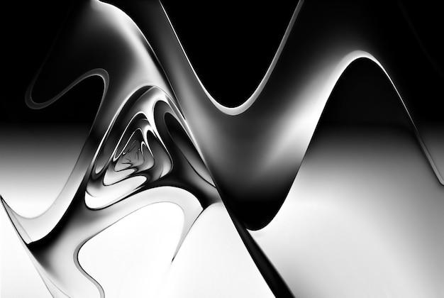 Monochromatyczne psychodeliczne tło dla twojego projektu