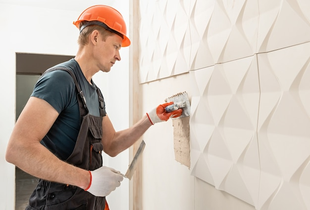 Montaż płyt gipsowo-kartonowych 3d do ściany