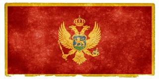 Montenegro flag tło grunge
