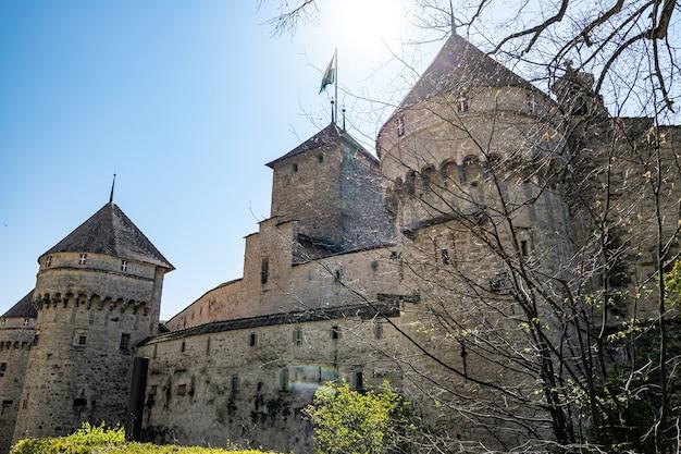 Montreux szwajcaria zamek chillon zbliżenie
