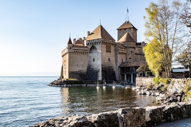 Montreux szwajcaria zamek chillon