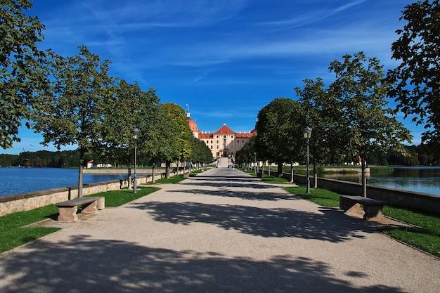 Moritzburg schloss w niemczech, saksonia