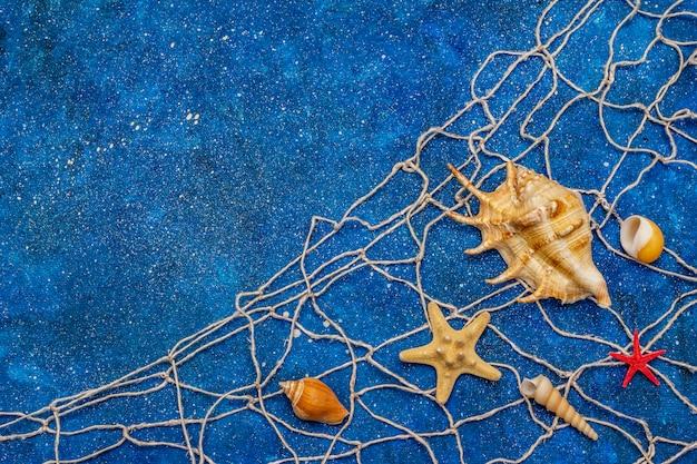 Morski morski z brokatem