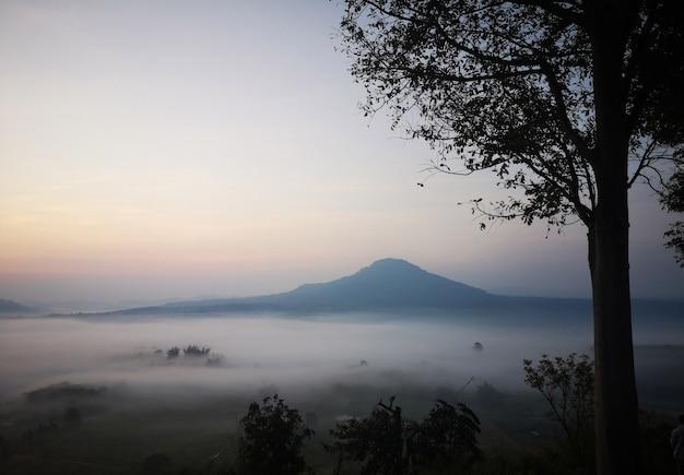 Morze mgły w khao kho phetchabun, tajlandia