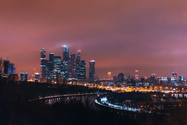 Moskwa. międzynarodowe centrum biznesowe w moskwie. rosja