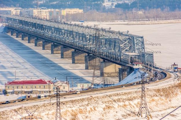 Most cesarski przez wołgę w uljanowsku