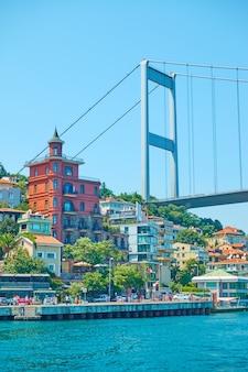 Most fatih sultan mehmet nad cieśniną bosfor, stambuł, turcja