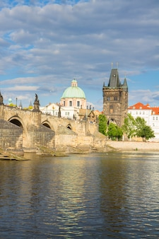 Most karola nad wełtawą, praga, czechy